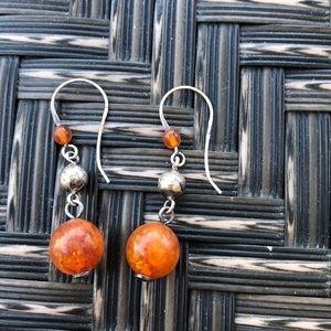 Polish Amber drop earrings